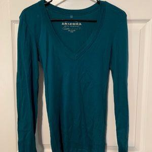 Women's blue long sleeve Arizona top